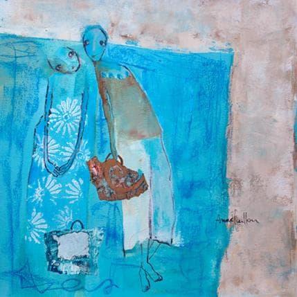 Anne Guillon Fleurs blanches 36 x 36 cm