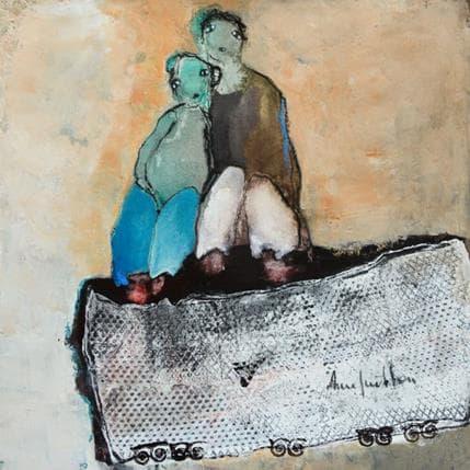 Anne Guillon Paysage avec regards 25 x 25 cm