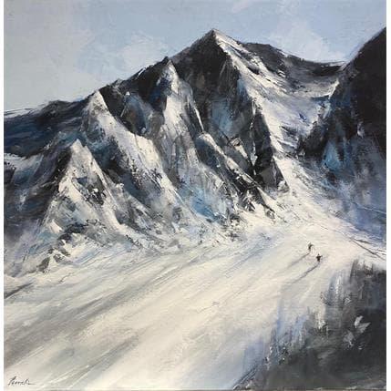 Richard Poumelin Sans Titre ( Montagne) 60 x 60 cm