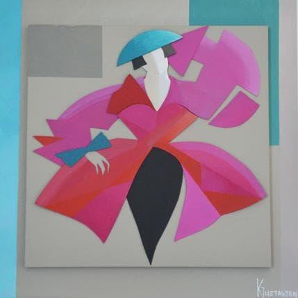 Karl Gustavsen Rose attitude 25 x 25 cm