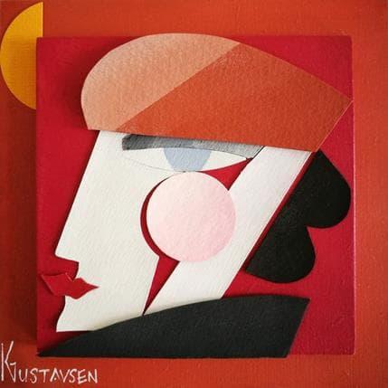 Karl Gustavsen Parisian girl 13 x 13 cm