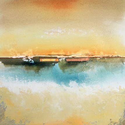 Christian Hévin Abstraction 8189 36 x 36 cm