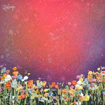 Lee Herring Magenta sky 13 x 13 cm