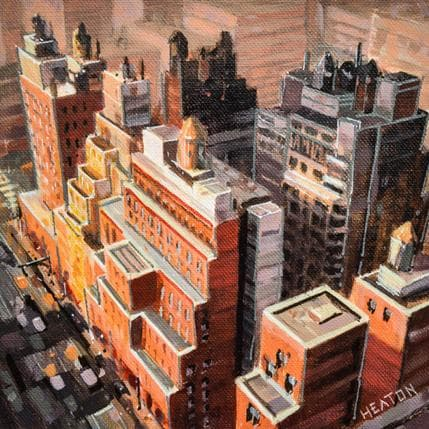 Rudyard Heaton City roof tops 25 x 25 cm