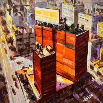 Rudyard Heaton Two red buildings 25 x 25 cm
