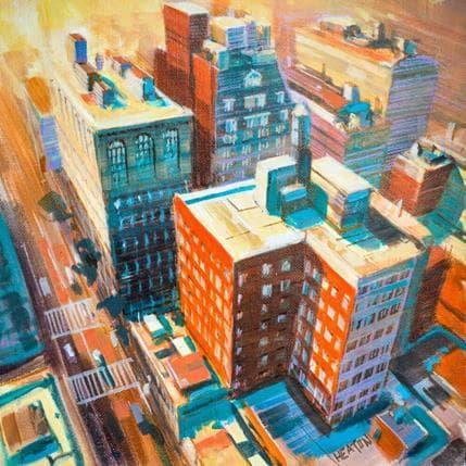 Rudyard Heaton New York building 36 x 36 cm