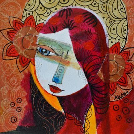 Laure Ketfa Devant les anges 19 x 19 cm