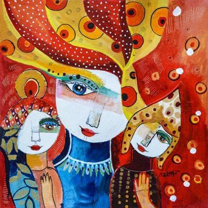Laure Ketfa Ressentir le vrai bonheur 25 x 25 cm