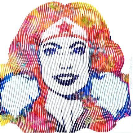 Virginie Schroeder Wonder woman 25 x 25 cm