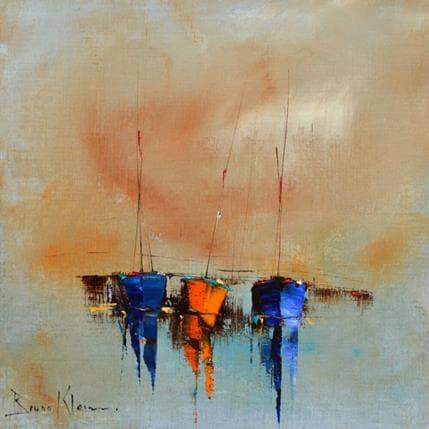 Bruno Klein Des tons de bleus 25 x 25 cm