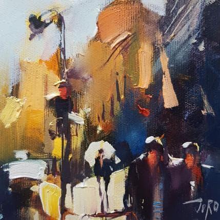 Georgi Kolarov Crossing the street 13 x 13 cm