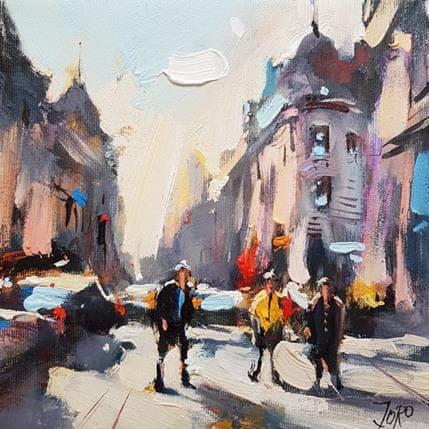 Georgi Kolarov After noon in the city 19 x 19 cm