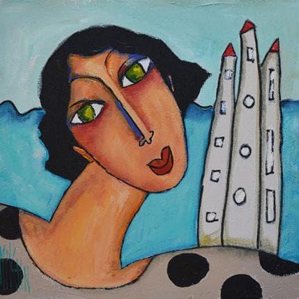 Marie-Pierre Kuhn L'île aux trésors 36 x 36 cm