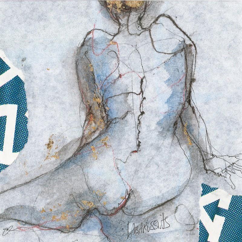 Dos de femme tons bleus