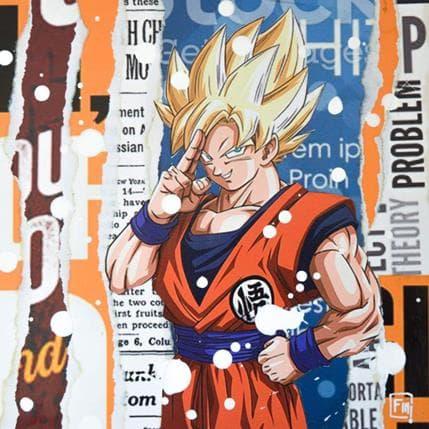 Franck Lamboley Goku super saiyan 19 x 19 cm