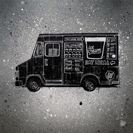 Graffmatt Van in black 36 x 36 cm