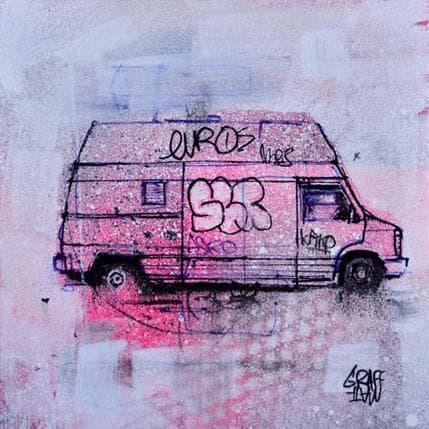 Graffmatt Pink truck 13 x 13 cm