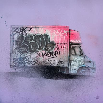 Graffmatt Street truck 36 x 36 cm