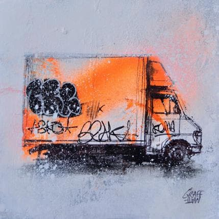 Graffmatt Orange truck 13 x 13 cm