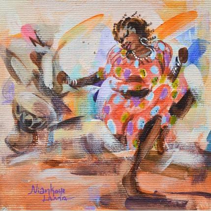 Niankoye Lama La danseuse 13 x 13 cm