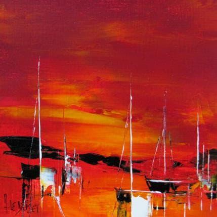 Albert Le Diuzet Composition marine rouge 48 19 x 19 cm