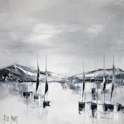 Albert Le Diuzet Marine grise 36 x 36 cm