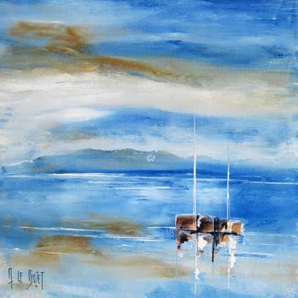Albert Le Diuzet Les deux mâts 36 x 36 cm