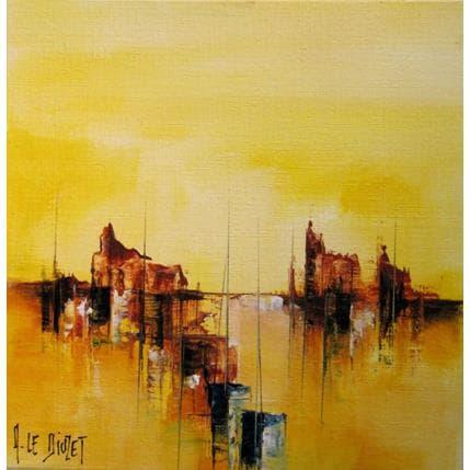 Albert Le Diuzet Composition marine 14z 19 x 19 cm