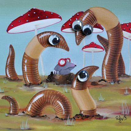 Raphaële Lennoz Giant earthworms 25 x 25 cm