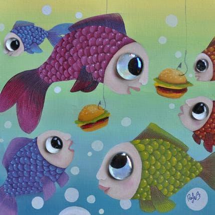 Raphaële Lennoz Fishing fast food 25 x 25 cm