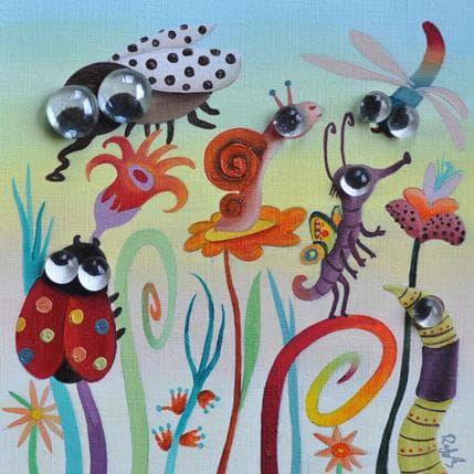 Raphaële Lennoz Les herbes folles 19 x 19 cm