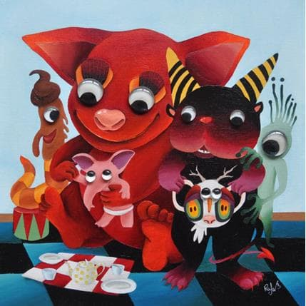 Raphaële Lennoz Jeux de monstres 36 x 36 cm