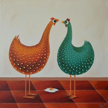 Raphaële Lennoz L'œuf au plat 2 50 x 50 cm