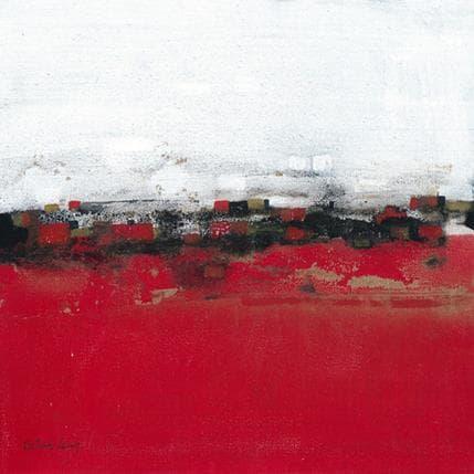 Betina Levin Imperio rojo y dorado 36 x 36 cm