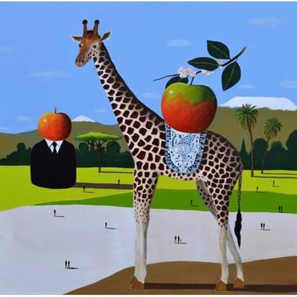 Pascal Lionnet Girafe 80 x 80 cm