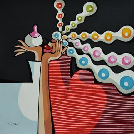 Alfredo Lopez Idée faisant son chemin 25 x 25 cm