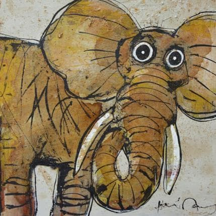 Hervé Maury L'éléphant 25 x 25 cm