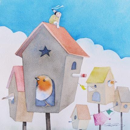 Masako Masukawa Bird houses 25 x 25 cm