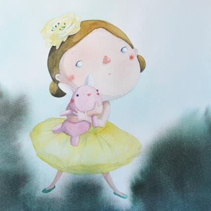 Masako Masukawa Girl in a yellow dress 36 x 36 cm