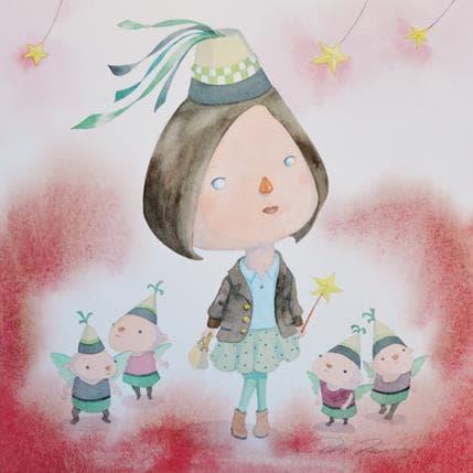 Masako Masukawa Fairies 36 x 36 cm