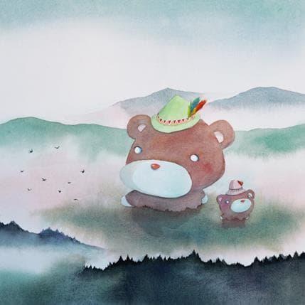 Masako Masukawa Bears 36 x 36 cm