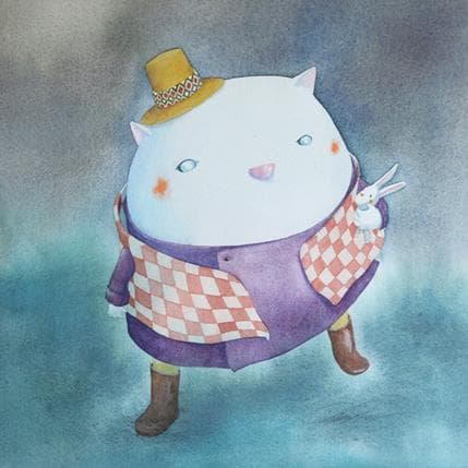 Masako Masukawa White cat 36 x 36 cm