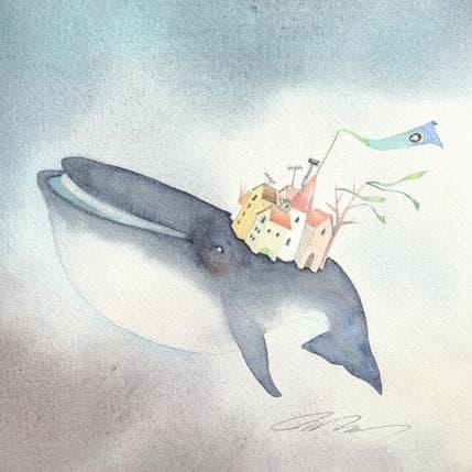 Masako Masukawa Whale city 25 x 25 cm