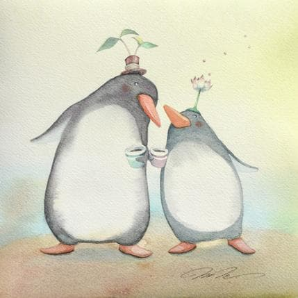 Masako Masukawa Penguin lovers 25 x 25 cm