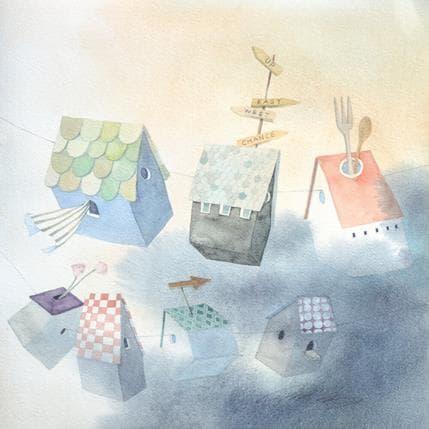 Masako Masukawa Laundry houses 36 x 36 cm