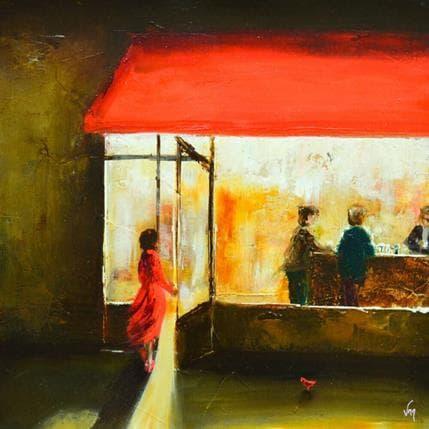Virginie Mezan de Malartic Vers la lumière 36 x 36 cm