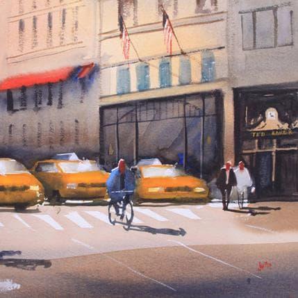 Jan Min New York yellow CABS 36 x 36 cm