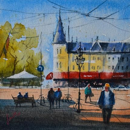 Jan Min Amsterdam, Rembrandtplein 13 x 13 cm