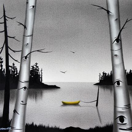 Natasha Miller Birches 25 x 25 cm