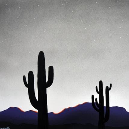 Natasha Miller Cactus night 1 36 x 36 cm